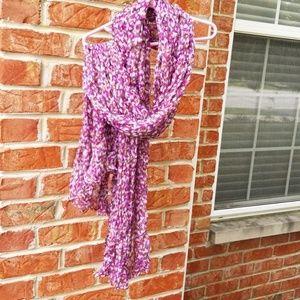 Loft purple, gray, lavender and tan scarf.